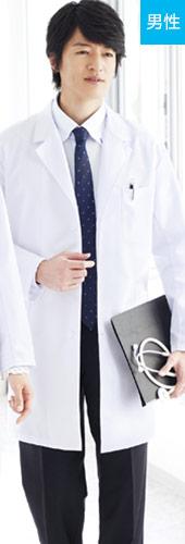 メンズシングルハーフコート、白衣