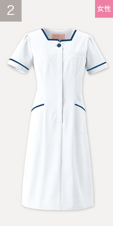 76-3016EW フォーク(FOLK)看護師制服ワンピース