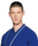 ブルー、水色、ターコイズ(青)のスクラブ白衣