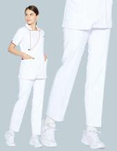 裏地付き白パンツ