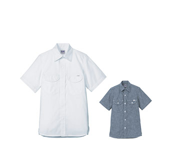 ボンマックスのシャンブレー半袖シャツ(34-LCS43005)