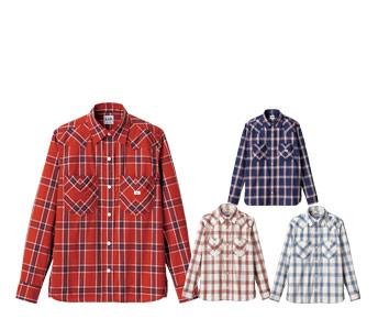 ボンマックスのチェック長袖シャツ(34-LCS43006)