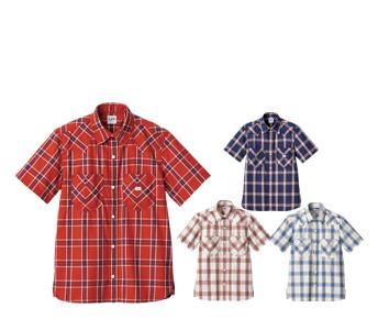 ボンマックスのチェック半袖シャツ(34-LCS43008)