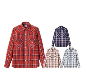ボンマックスのチェック長袖シャツ(34-LCS46006)