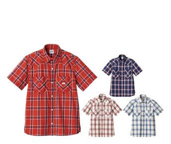 ボンマックスのチェック半袖シャツ(34-LCS46008)