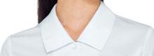七分袖ブラウス(32-34213)の襟アップ