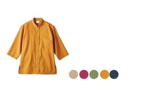 モンブランの七分袖シャツ(71-OV2502)
