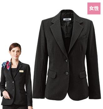 ボンユニの女性用ニットストライプジャケット(32-11230)