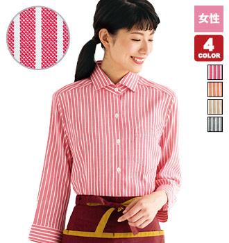 ホリゾンタルカラー七分袖シャツ(32-24211)