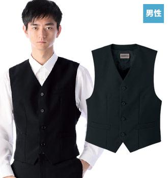 男性用襟なしベスト(33-BF3196)