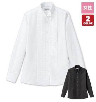 ボンマックスのピンタックウィングカラーシャツ/長袖[女性用](34-FB4040L)