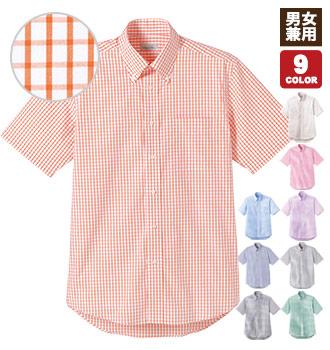 チェック柄半袖シャツ(34-FB4507U)