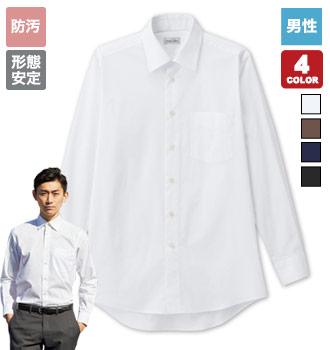 ボンマックスのレギュラーカラー長袖シャツ[男性用](34-FB5040M)