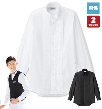 ボンマックスのピンタックウィングカラーシャツ/長袖[男性用](34-FB5045M)