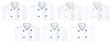 コックシャツ(31-AS7804)のカラーバリエーション