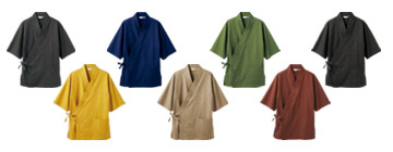 機能的な作務衣(71-3-556)のカラーバリエーション