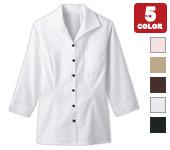 ボンユニのレディースイタリアンカラーシャツ(七分袖)(32-34208)