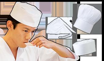 調理用帽子バナー