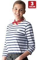 七分袖バスクシャツ(31-AS8253)