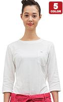 七分袖で邪魔にならず冷房冷えも防ぐ!LeeTシャツ(34-LCT29002)