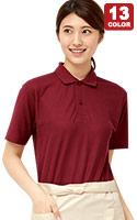 きちんと感を演出する乾きやすいポリエステル素材の割合が高いポロシャツ(41-00193CP)