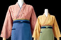 表情を可憐に彩る松葉紋と梅の小花柄の茶羽織