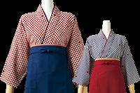 市松模様がかわいい茶羽織