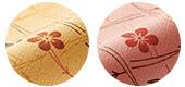 松葉紋と梅の小花柄