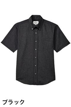 おしゃれなボタンダウン半袖シャツ(ブラック)