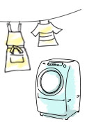 イージーケアエプロン洗濯画像
