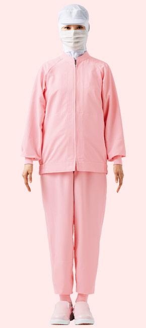 交差汚染対策におすすめしたいピンク色の食品白衣コーディネート