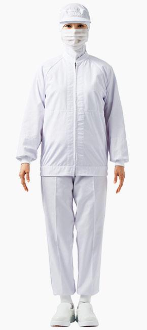 交差汚染対策におすすめしたい白色の食品白衣コーディネート