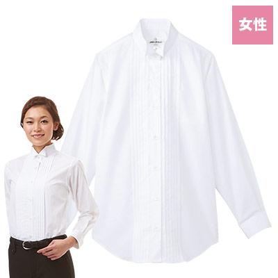 ピンタックウイングカラーシャツ[女性](31-KM4091)