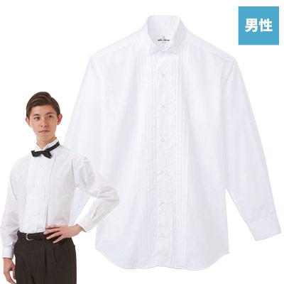 ピンタックウイングカラーシャツ(31-KM4092)