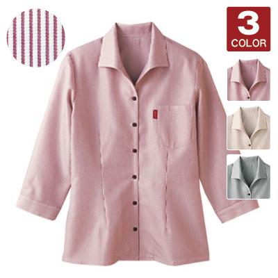 七分袖イタリアンカラーシャツ(32-34201)