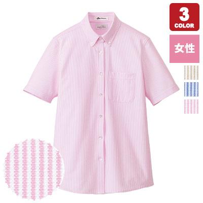 女性用ニット吸汗速乾半袖ブラウス(34-FB4022L)