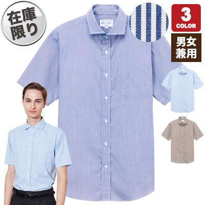 半袖ワイドカラーストライプシャツ(31-EP8369)