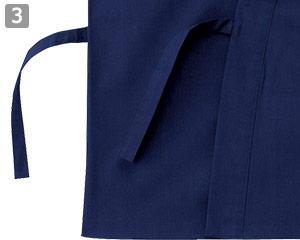 作務衣/上衣(02-25700)の商品詳細「着用紐タイプ」