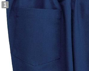 作務衣パンツ(02-25701)の商品詳細「右後ろポケット」