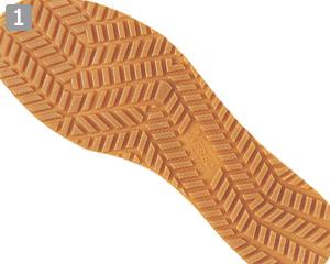 厨房シューズ(02-85663)のポイント�グリップのきくEVA+ラバー仕様の靴底