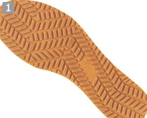 厨房シューズ(02-85664)のポイント�グリップのきくEVA+ラバー仕様の靴底
