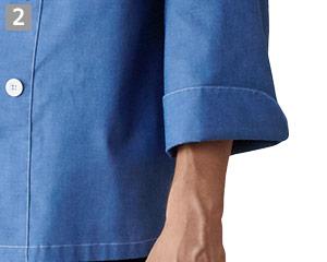 コックシャツ/七分袖(31-AS8220)の商品詳細「七分袖」