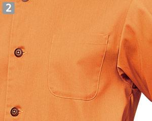 七分袖和風シャツのポイント�左胸ポケット