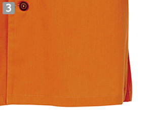 七分袖和風シャツのポイント�両脇スリット