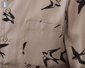 ダボシャツのポイント�左胸ポケット
