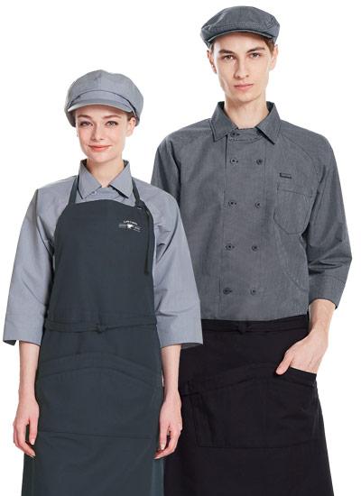チトセの七分袖コックシャツ(31-AS8321)のポイント画像