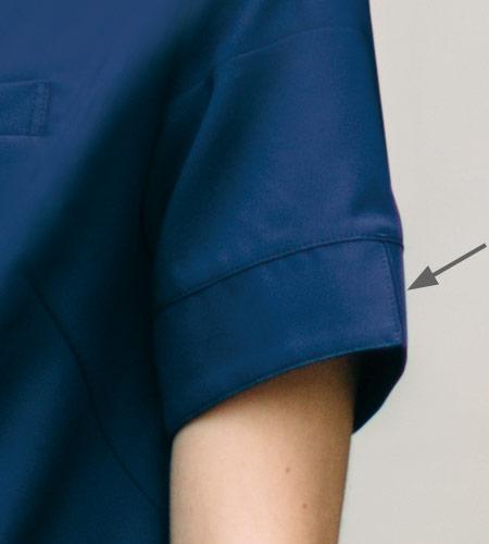 袖口スリットのイメージ図