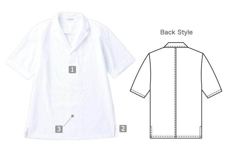 半袖白衣(31-DN6854)の商品詳細