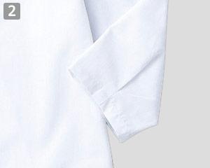 ジンベイのポイント�タックが入った七分袖