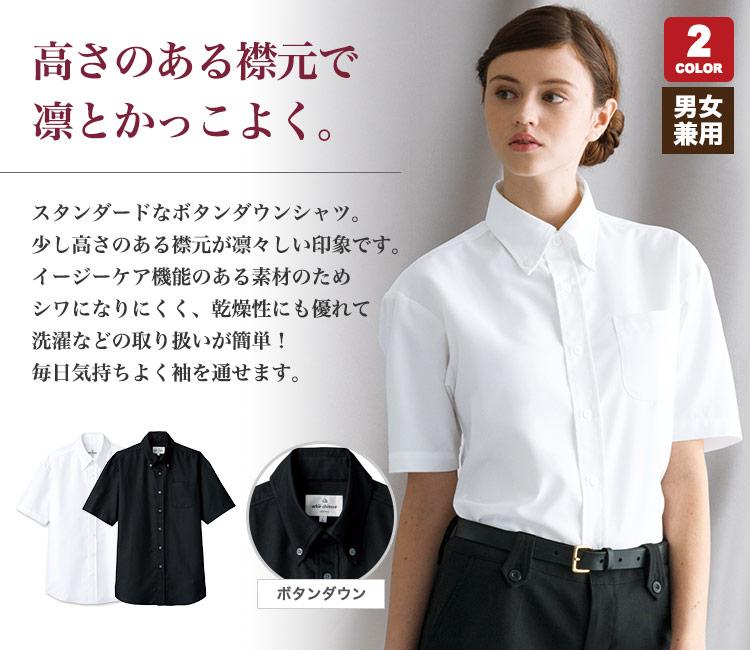 家で洗えるボタンダウン半袖シャツ(31-EP8060)